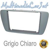 Mascherina Autoradio Doppio Din Seat Ibiza Grigio Chiaro Cornice 08-  3442