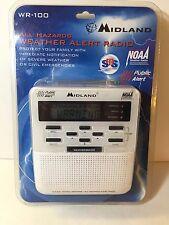 Midland Wr-100 Weather Alert Radio Noaa All-Hazard Public Alert Digital New