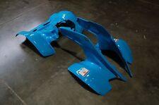 HONDA TRX 250R PLASTIC ELECTRIC BLUE FRONT AND REAR FENDER SET TRX250R PLASTICS