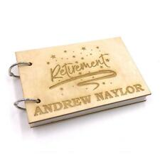 Personalised Wooden Front Retirement Guest Book or Scrap Book WOD-2