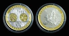 Belgique BE Europa Première en Frappe Hommage à l'Euro Argent 999°/°° Or 999°/°°