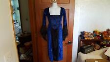 GIRL'S SZ LG 12-14 BLUE VELVET WITCH, QUEEN, HALLOWEEN COSTUME, DRESS UP,PRETEND