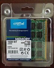 New listing Crucial 16Gb Kit (2 x 8Gb) Ddr3L-1600 Sodimm (Pc3L 12800) Ct2Kit102464Bf160B