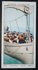 SS EUROPA  Lifeboat Boat Drill  Original Late 1930's Vintage Card  # VGC
