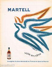 PUBLICITE ADVERTISING 055  1968  MARTELL  cognac par WILLEMOT