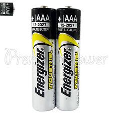 2 x Energizer AAA batteries Industrial 1.5V LR03 Micro EN92 AM4 MN2400 EXP:2027