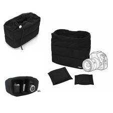 Black Shockproof DSLR SLR Camera Bag Partition Padded Insert Protection Case New