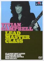 Hot Licks Vivian Campbell Lead Master Class Learn Play Electric Guitar Music DVD