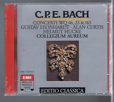 CPE BACH CD NEW CONCERTI WQ 46.23 & 165.GUSTAV LEONHARDT / ALAN CURTIS