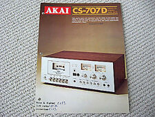 Akai CS-707D cassette deck brochure