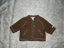 ADORABLE Baby Boys JANIE And JACK LITTLE Fleece Jacket ~ Brown ~ 0-3 Mos