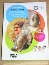 RARE COFFRET 3 DVD ROM JEUNESSE / LA PREHISTOIRE, L'EGYPTE, L'ANTIQUITE / NEUF