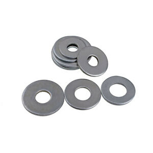M2-M16 Form Flat Washers To Fit Beige Bolts And Screws White Zinc