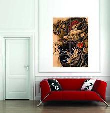 Oriental Dragon Tattoo Giant Poster Art Print