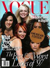 VOGUE US January 1998 SPICE GIRLS Stella Tennant CAROLYN MURPHY Patsy Kensit