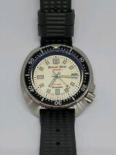 Detroit Mint Islander White Pearl Automatic Turtle Diving Watch 6105