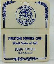 Firestone Golf Bag Tag Ohio world Series of Golf