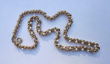 Vintage GIVENCHY Heavy Gold Chain Link NECKLACE with Pearls LOGO SIGNED