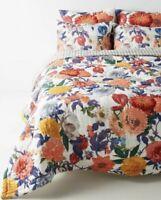 Anthropologie Home Agneta Reversible Quilt Queen Floral Pink Orange Blue