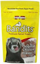 Marshall Pet Bandits Ferret Treat Chicken Meat-Based Protein Food Quality 3oz