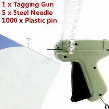 Clothing Price Label Tagging Machine Clothes Garment Tag Gun+1000 Barbs+5 Needle