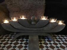 Stunning Large Wooden Candelabra Shabby Chic Candle Holder Hygge Home Decoration