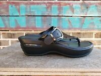 Cole Haan NikeAir Women's Sandals Maddy Black Leather Thong Slides 7.5 B