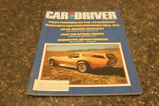 CAR AND DRIVER FIRST PICTURES OF THE '73 CORVETTE JULY 1972 VOL.18 #1 9677-1 #22