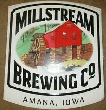 MILLSTREAM BREWING amana iowa METAL TACKER SIGN craft beer brewery brewing