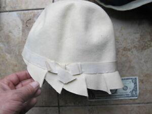 RARE Original Antique Stylish Woman's Felt Flapper Hat, ROARING 20'S, Americana