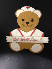 4 MULBERRY NURSE BEAR GET WELL SOON CARD MAKING CRAFT EMBELLISHMENTS CLEARANCE