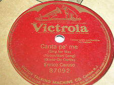 78 rpm- ENRICO CARUSO - Canta pe' me - VICTROLA 87092 - single face