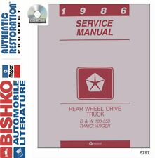 OEM Repair Maintenance Shop Manual CD Dodge Truck D/W 150-350 & Ramcharger 1986