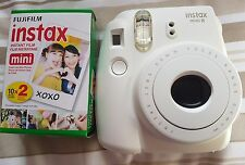 Fujifilm Mini 8 Instax White Instant Camera & 2 packs of 10 sheets Instant Film
