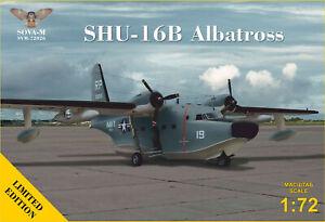"""1/72 Sova-M 72026 SHU-16B """"Albatross"""" US Navy/USAF flying boat plastic kit"""