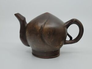 Old Chinese  Up Side Down Purple Clay Teapot