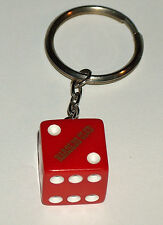 HAROLDS CLUB GAMBLING CASINO RENO NEVADA RED GOLD KEY CHAIN DICE FREE SHIPNG USA