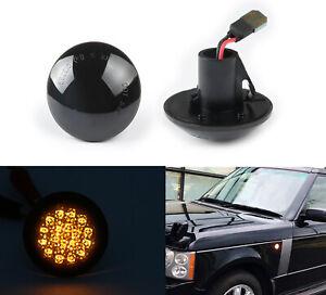 03-12 For Range Rover L322 HSE SC Smoke LED Side Marker Blinker Signal Light 2pc