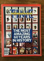 TIME MAGAZINE ANNIVERSARY ISSUE 1983 - THE MOST AMAZING 60 YEARS IN HISTORY