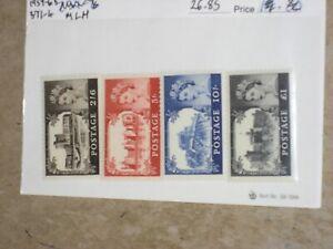 G.B. QEII 1959-68 Castle Set Scott 371-4 MLH from Dealer Stock CV$26+