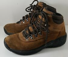 Earth Shoe CASA Brown Suede Waterproof Outdoors Hiking Ankle Boots Hers 8 His 6
