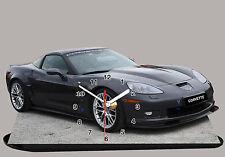 CORVETTE-02, MODEL CARS, US CAR,11,8x 6 inches, Car - Passenger with Clock