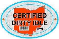 Certified Dirty Idle Sticker not Clean Idle Sicker OHIO