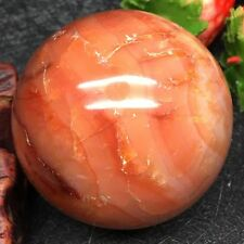 Marvelous Natural Banded Carnelian Crystal Quartz Agate Sphere Ball 218g 54mm