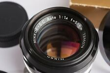 Nikon NIKKOR-S·C Auto 1:1.4 f=50mm lens and HS-1Lens Hood Excellent+++++
