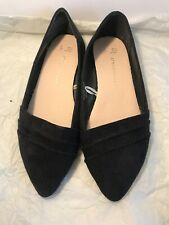 USED PRIMARK ATMOSPHERE Black Pointy Flat Suede SIZE UK 3 EUR 36 Casual Shoes