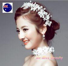 Women Girl Wedding Bride Wire white Party Hair Garland Headband Prop hairpiece