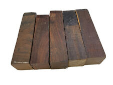 """5 PIECES LOT, COCOBOLA, COCOBOLO WOOD TURNING BLANKS 1 1/2"""" x 1 1/2"""" x 6"""""""