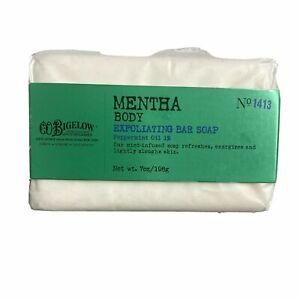 Bath & Body Works CO Bigelow Mentha Body Exfoliating Bar Soap Peppermint 1% 7 oz