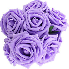 10pcs Fake Flowers Artificial Roses For Bouquet Wedding Table Centerpieces US